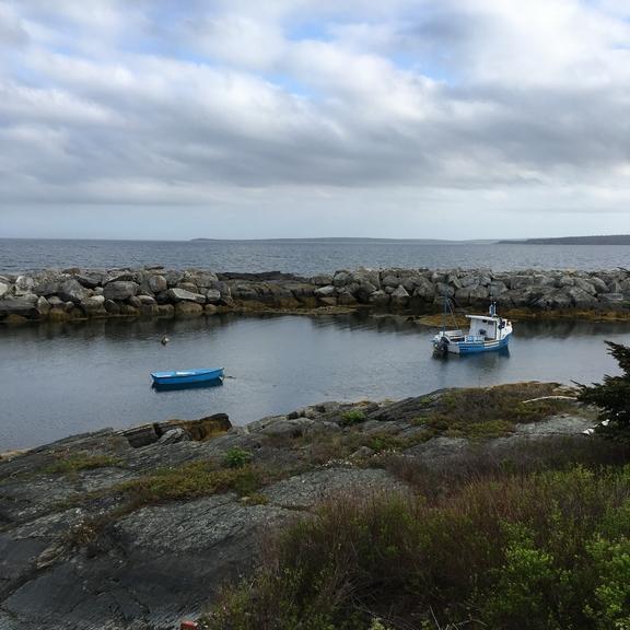blue rocksand boat